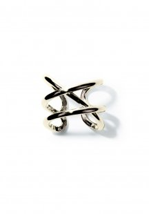 cross line ring (gold)