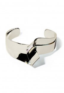 twist plate bangle (gold)