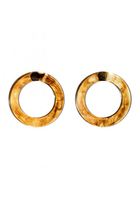 round pierce (clear brown)