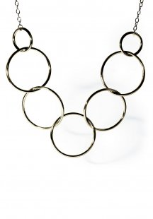 impact large ring necklace (gold)