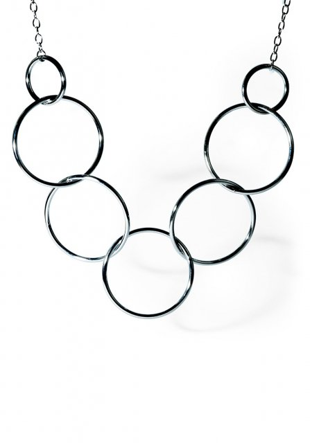 impact large ring necklace (silver)