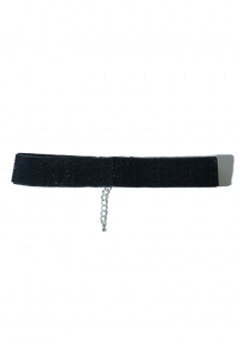 glitter ribbon choker (black)