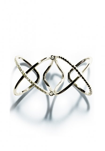 w cross ring (gold)