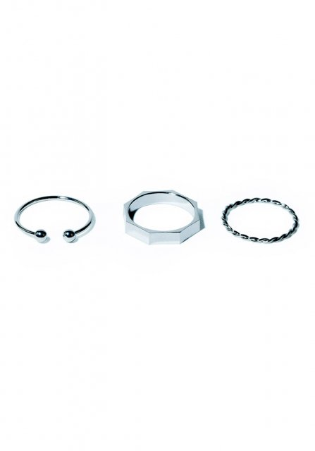 rock ring set (silver)