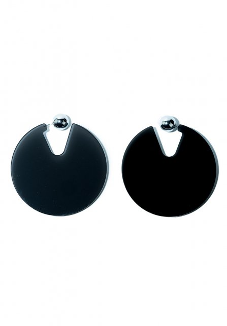 pie and sphere pierce (clear black)
