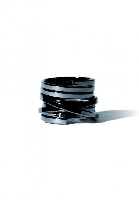 wind round ring (black)