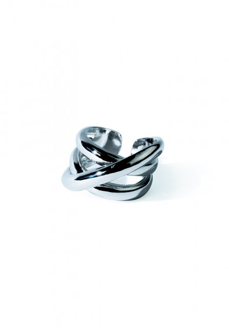 double cross ring (silver)