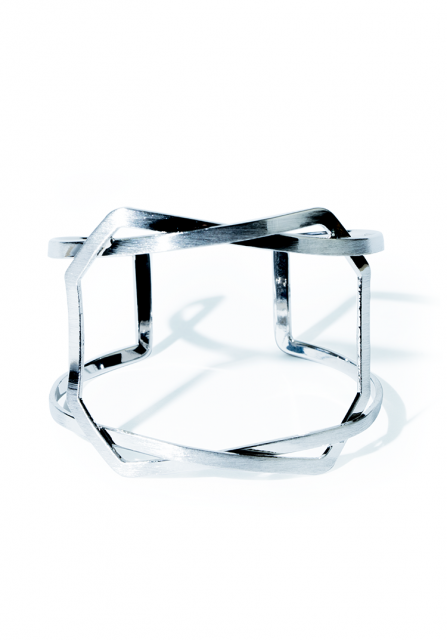 flame style bangle(silver)