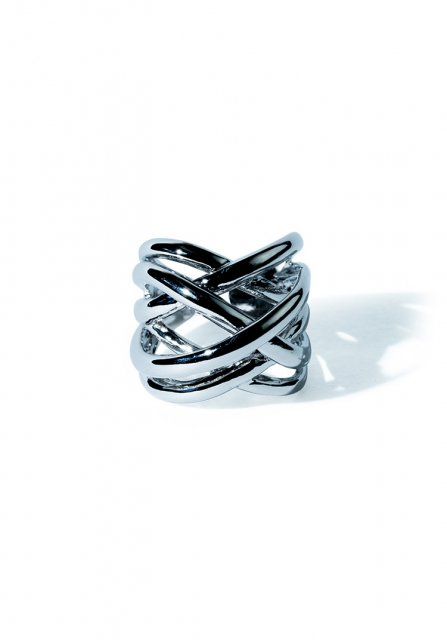 triple cross ring (silver)