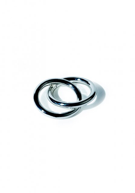duplicate ring (white silver)