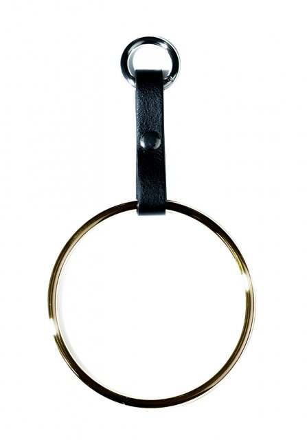 large circle key chain (gold)