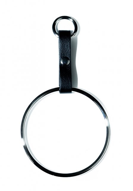 large circle key chain (silver)