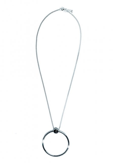 impact circle necklace (silver)