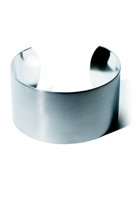 wide plate bangle(silver)