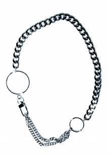 circle and  chain  necklace(silver)