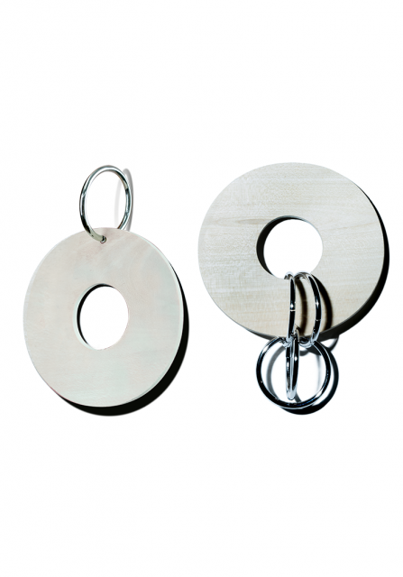 symmetry wood pierce (silver)