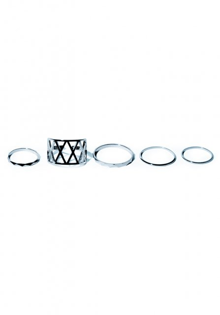 grammar various ring set(silver)