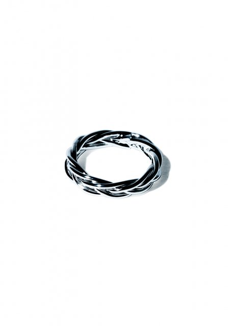 crossing loop ring (silver)