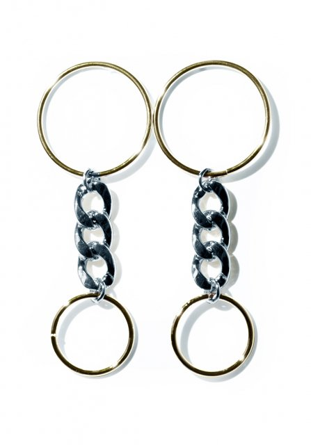 double circle pierce (gold×silver)