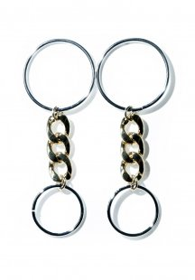 double circle pierce (silver×gold)