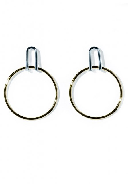 catch circle pierce(gold)