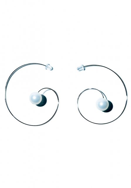 thin line pearl pierce(silver)