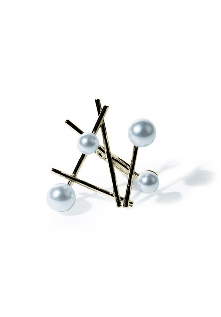 constellation pearl ring (gold)
