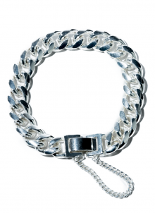 attractive chain bracelet (white silver)