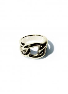 voluminous chain ring(gold)