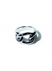 voluminous chain ring(silver)