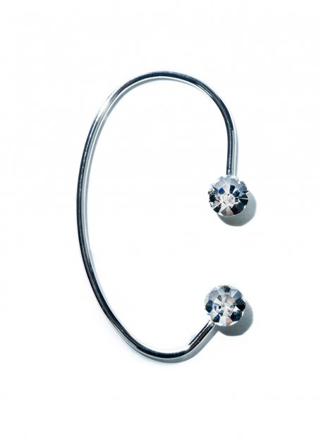 shine point ear cuff (silver)