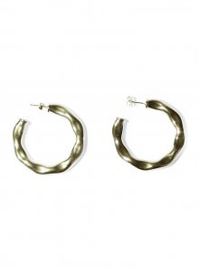 billow circle pierce (gold)