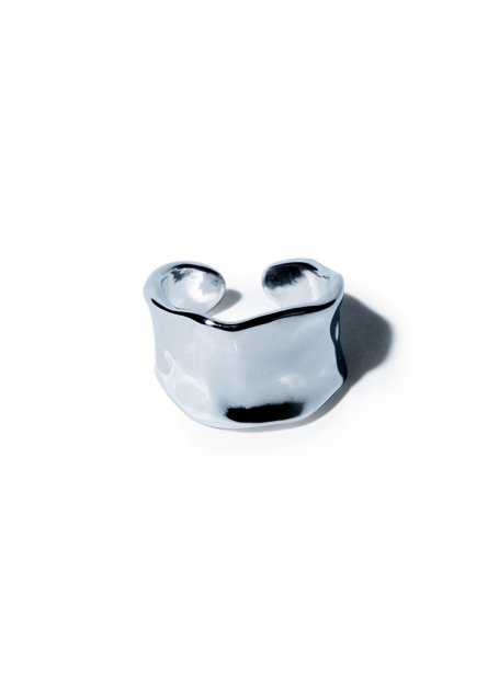 billow circle ring(silver)