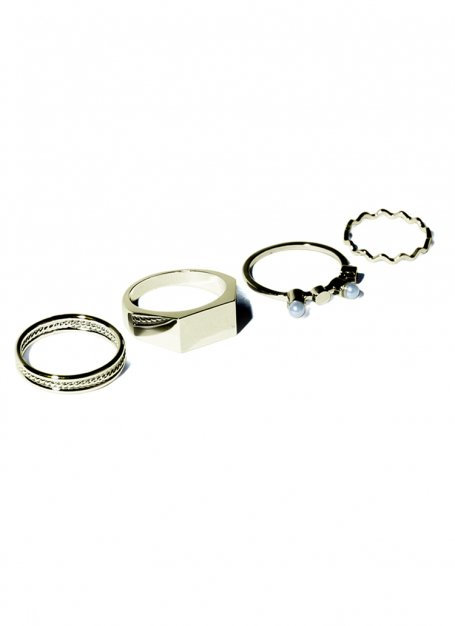 four style ring set (gold)
