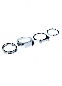 four style ring set (silver)