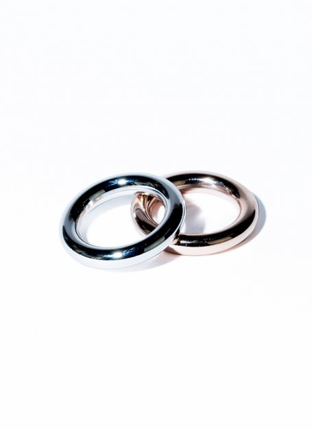 dichromic ring set (silver×pink gold)