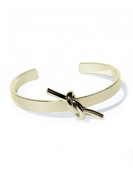 knot plate design bangle(gold)