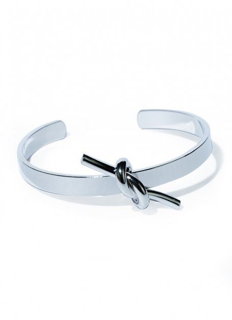 knot plate design bangle(silver)