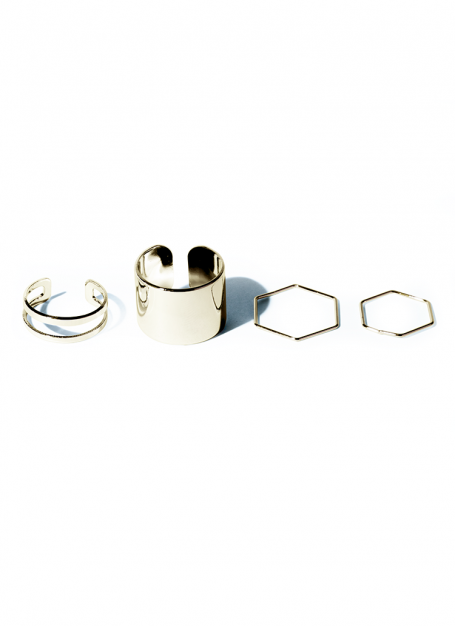 various form ring set (gold)