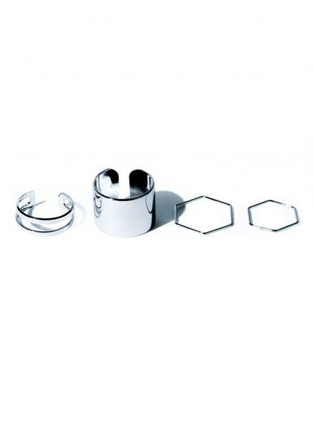 various form ring set (silver)