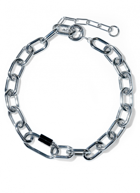 volume chain necklace (silver)