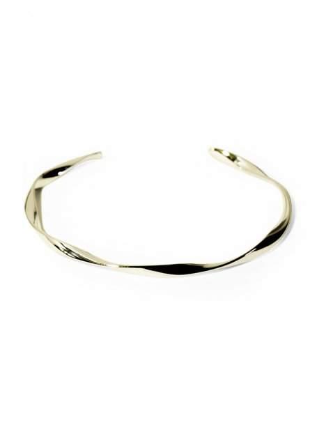 slender twist bangle (gold)