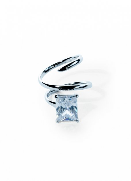 lavish stone ring (silver)