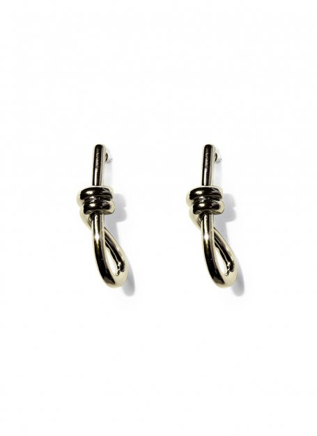 knot loop pierce (gold)