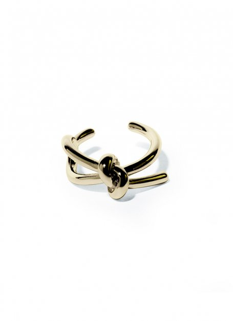tying the knot ring (gold)