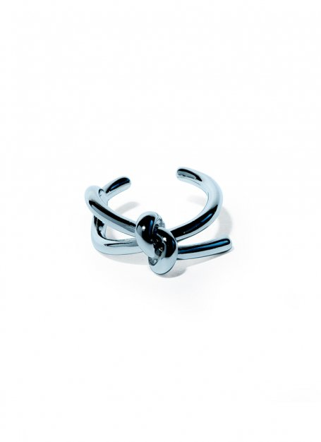 tying the knot ring (silver)