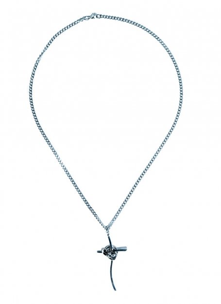 tangled cross necklace (silver)
