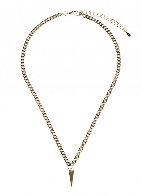 horns chain necklace (gold)