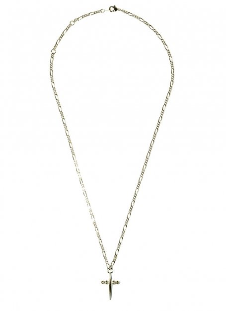 crossover chain necklace (gold)