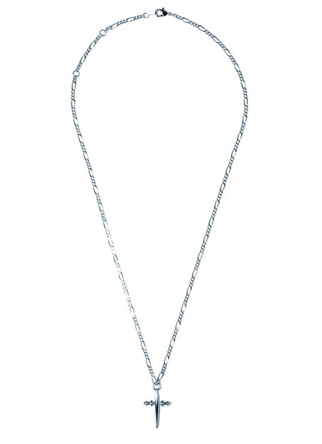 crossover chain necklace (silver)